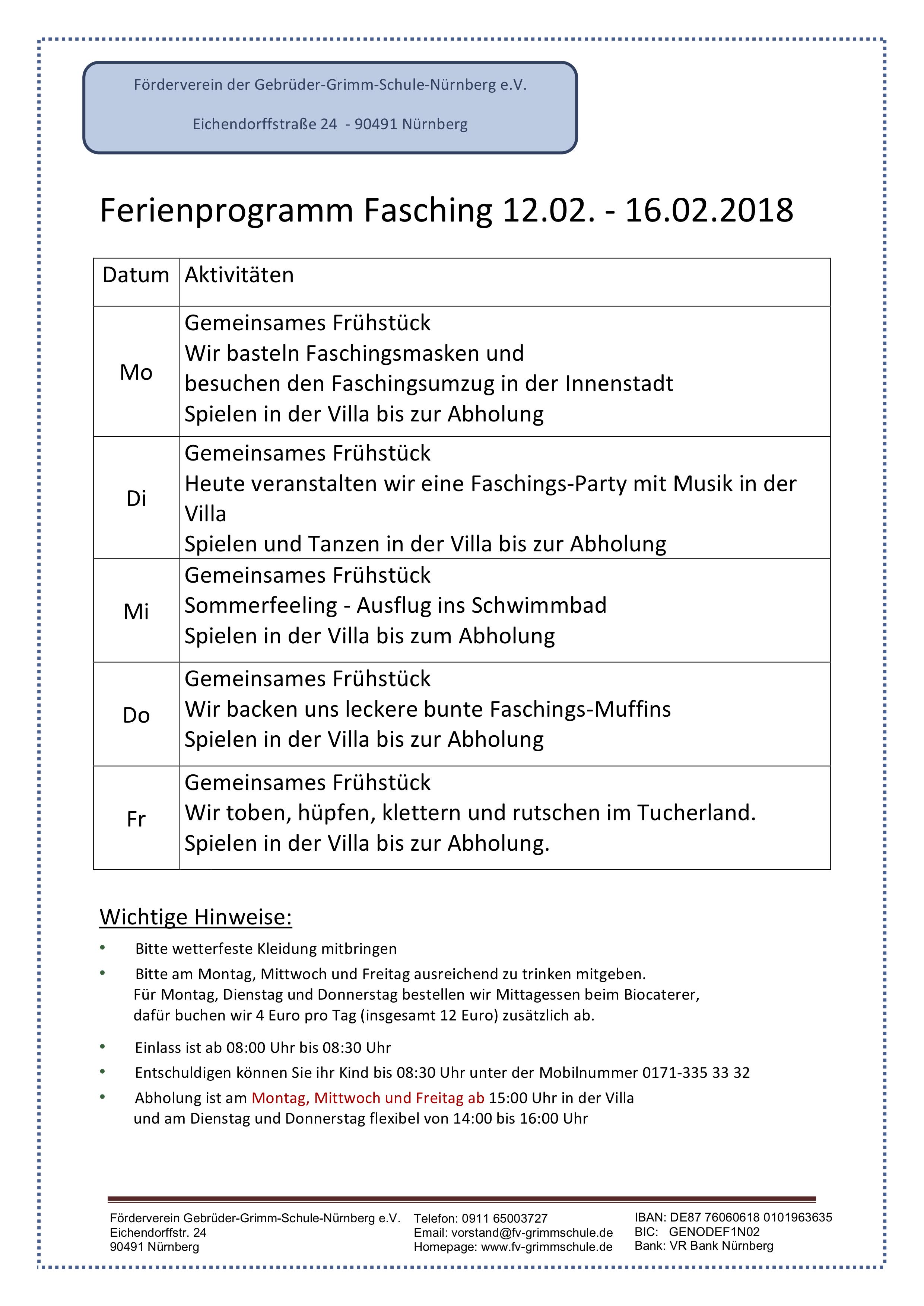 Aktuelles | Förderverein Grimmschule - Part 2